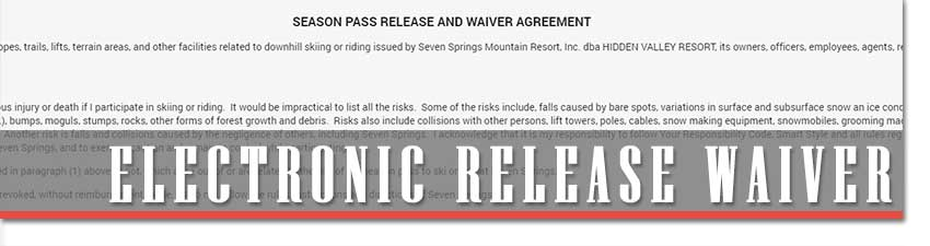 Electronic Release Waiver